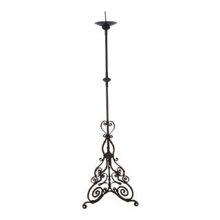 Santa Barbara Mission Style Iron Candle Holder For Sale