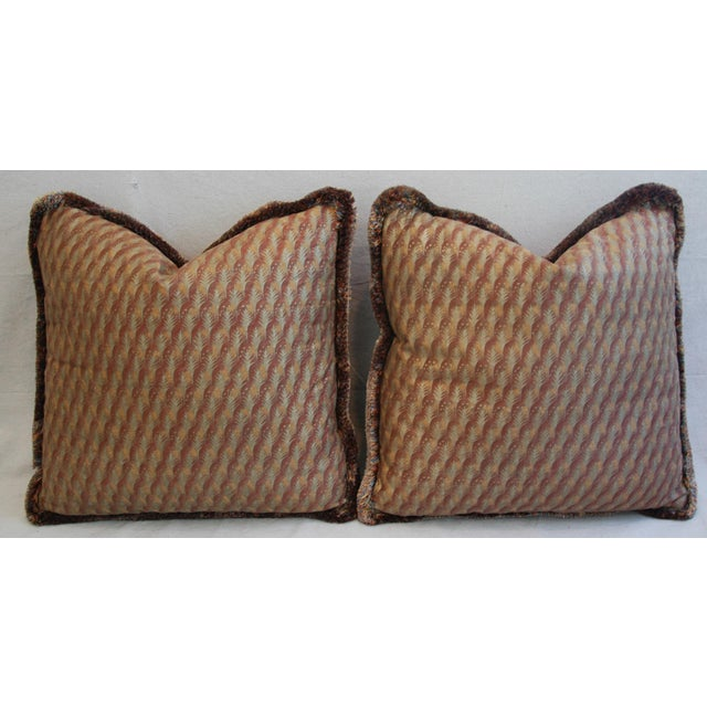 "23"" Custom Tailored Italian Mariano Fortuny Piumette Feather/Down Pillows - Pair For Sale In Los Angeles - Image 6 of 11"