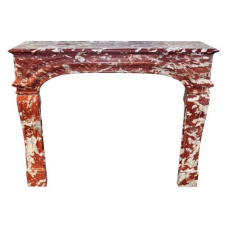 Louis XIV French Brown Marble Mantel For Sale