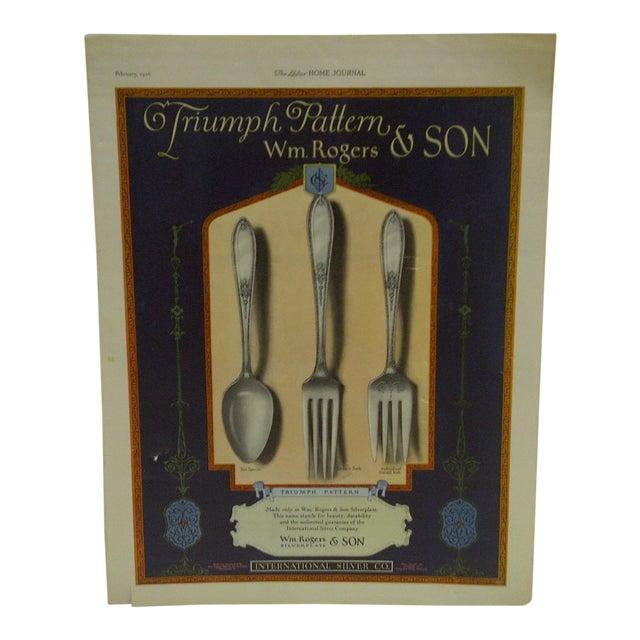 "Vintage ""International Silver Corporation"" Ad For Sale"