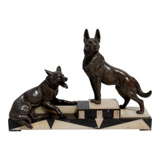 Overscale Art Deco Bronze Animalier Sculpture by Louis-Albert Carvin (1875–1951) For Sale