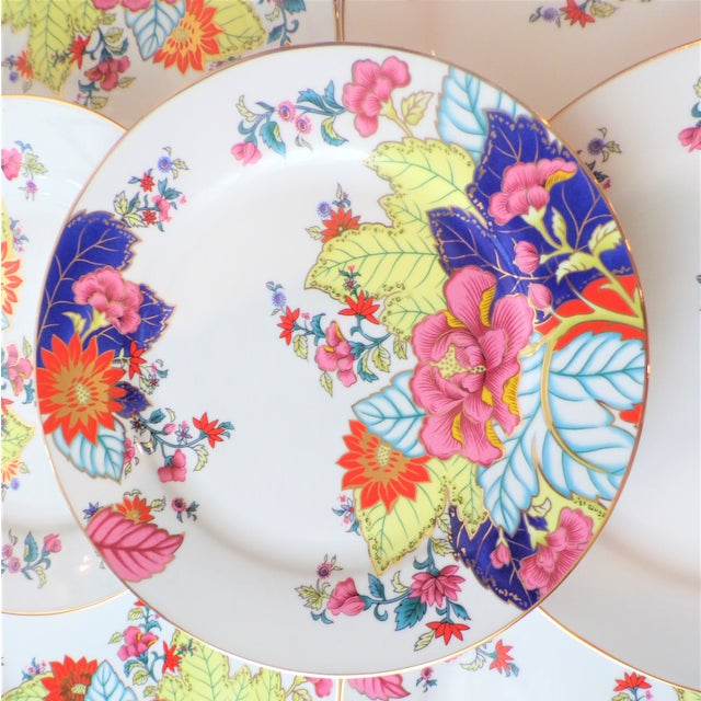 White Vintage Tobacco Leaf Porcelain Plates - Set of Seven or Eight For Sale - Image 8 of 10