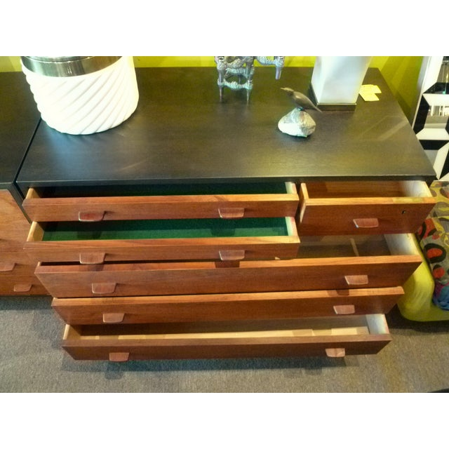 Hans Wegner Ebonized Oak Teak Dresser Ry Mobler - 1950s For Sale In Miami - Image 6 of 13