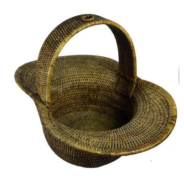 Burmese Hand Woven Hat Basket - Image 3 of 10