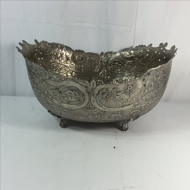 Silver Plated Planter - Image 2 of 6