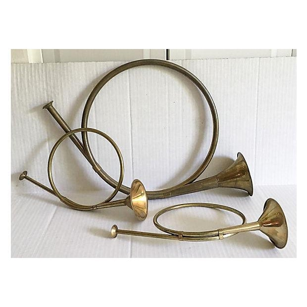 Decorative Brass French Horns - Set of 3 - Image 2 of 5