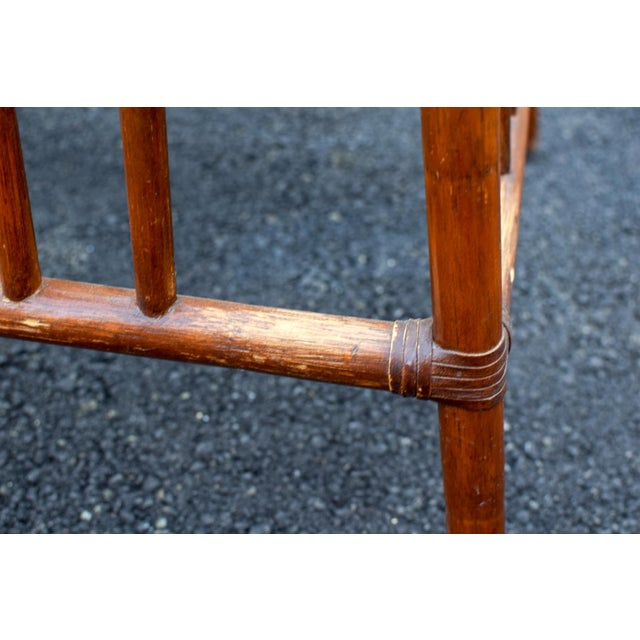 Mid 20th Century 20th Century Chinoiserie Bamboo Base Dining Table For Sale - Image 5 of 10