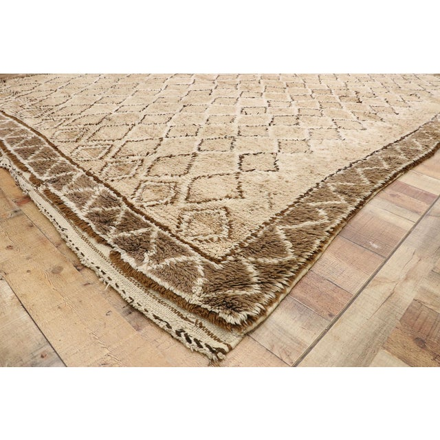 Vintage Berber Moroccan Rug With Earth-Tone Colors - 7'1 X 9'8 For Sale In Dallas - Image 6 of 10