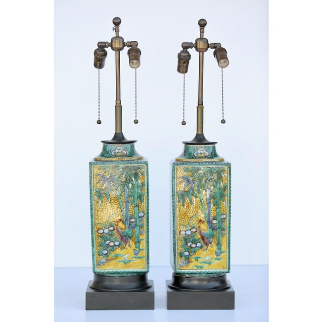 Ceramic William Haines Chinese Ceramic Table Lamps - a Pair For Sale - Image 7 of 7