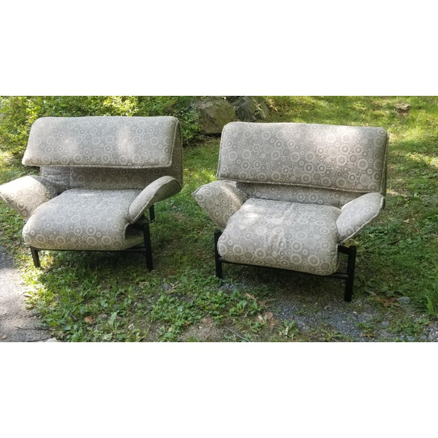 1980's Giovanni Offredi Onda Recliner Saporiti Lounge Chairs For Sale - Image 10 of 10
