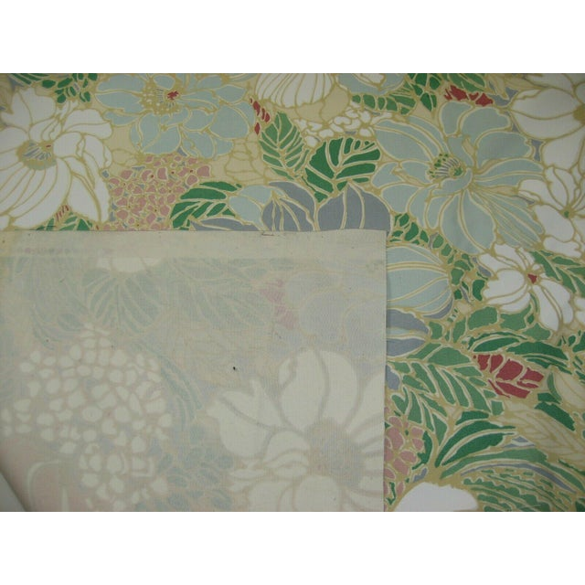 Vintage Floral Sunbrella Indoor/Outdoor Upholstery Fabric- 4 Yards For Sale - Image 4 of 6