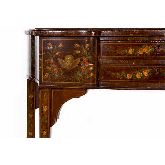 Edwardian Classical Painted Antique Console Cabinet Circa 1860-80 For Sale  - Image 9 of - Edwardian Classical Painted Antique Console Cabinet Circa 1860-80
