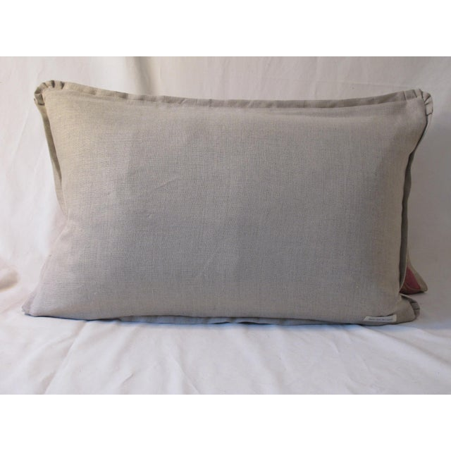 Boho Chic Modern Belgian Linen Fortuny Pillows- A Pair For Sale - Image 3 of 5