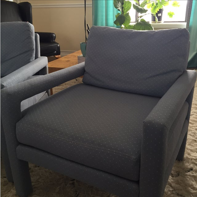 Milo Baughman Style Drexel Club Chairs - A Pair - Image 3 of 6