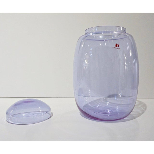 Vintage Carlo Moretti 1980s Alexandrite Purple Blue Murano Crystal Glass Urn For Sale In New York - Image 6 of 11
