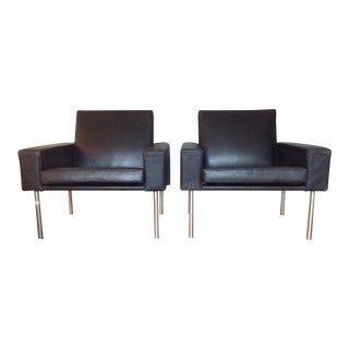 Hans Wegner Ge34 Lounge Mid-Century Chairs For Sale