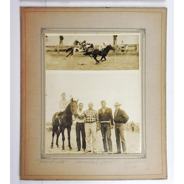 1950s 1950's Horse Race Photographs - Set of 4 For Sale - Image 5 of 6