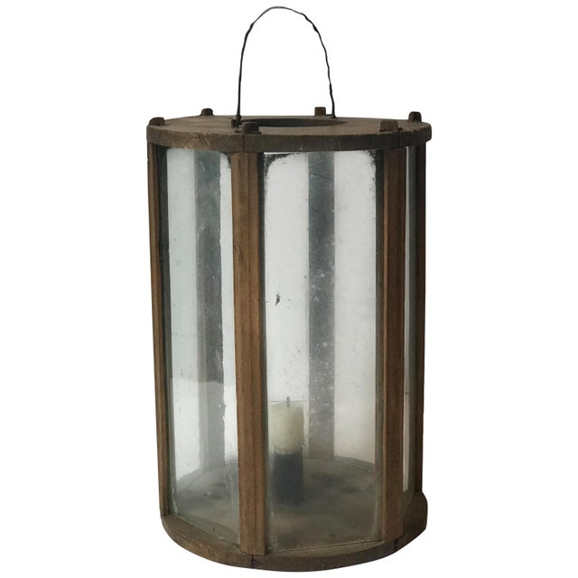 Late 19th Century Late 19th Century Rustic Swedish Round Wooden Lantern For Sale - Image 5 of 5
