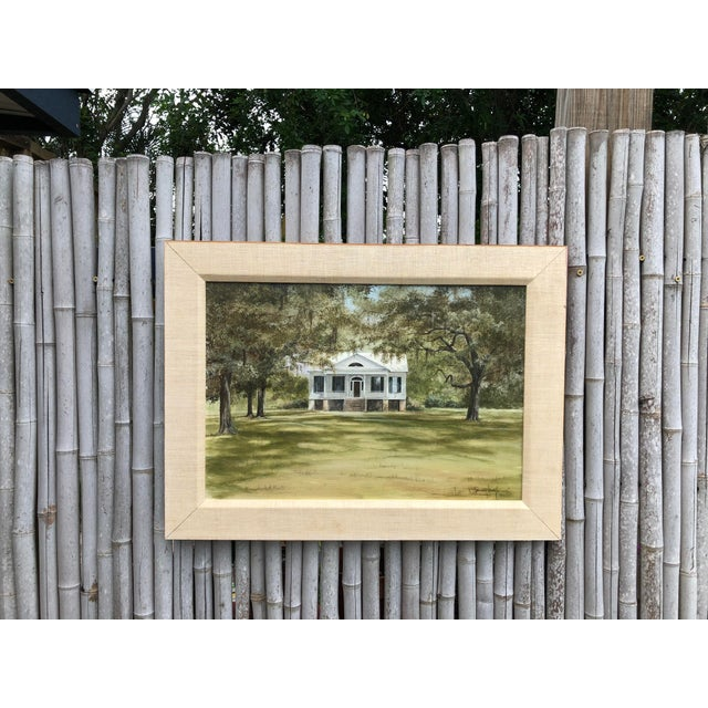 Douglas Grier Southern American Architectural Landscape Painting, Framed For Sale - Image 12 of 12
