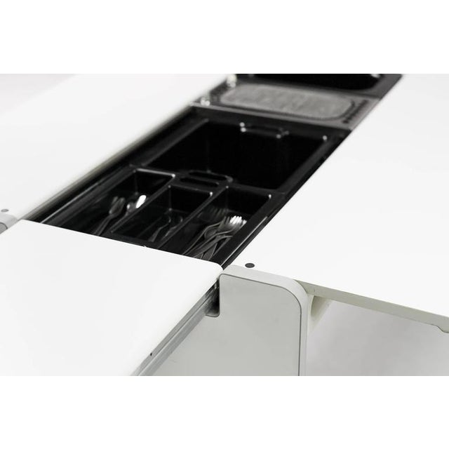 """White Joe Colombo Dining Trolley, """"Living Center"""" Series for Rosenthal For Sale - Image 8 of 10"""