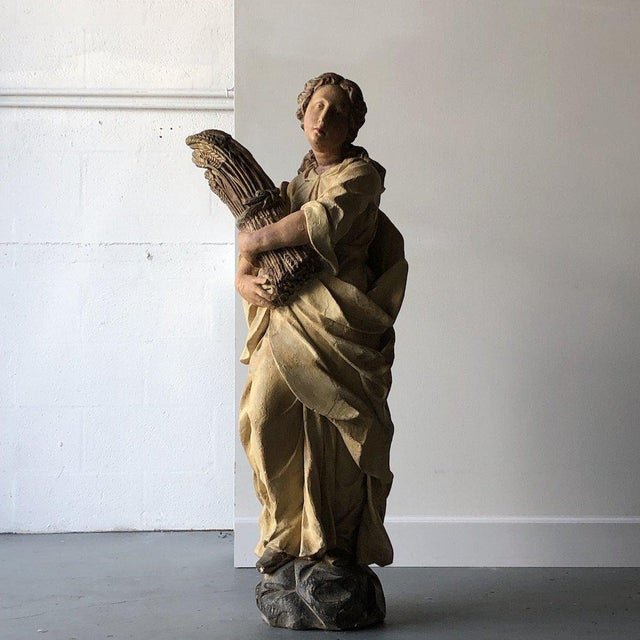 Plaster Monticello Studios Polychrome Plaster Figure For Sale - Image 7 of 7