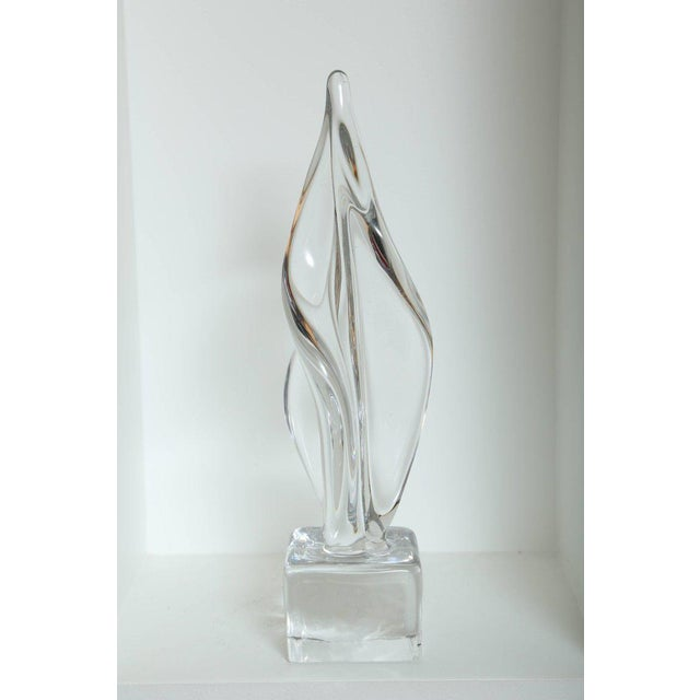 Seguso Mid Century Modern Large Abstract Sculpture in Murano Glass For Sale - Image 4 of 10