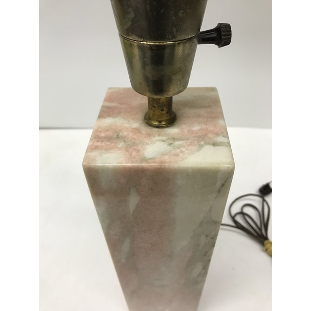 Vermarco Vermont Pink Marble Lamp For Sale - Image 4 of 7