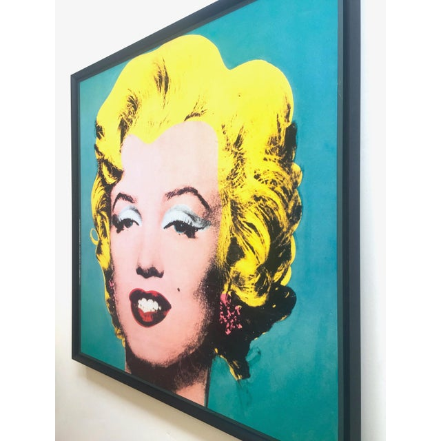 "Andy Warhol Vintage 1988 Lithograph Print Framed Pop Art Poster "" Marilyn "" 1964 For Sale - Image 10 of 13"