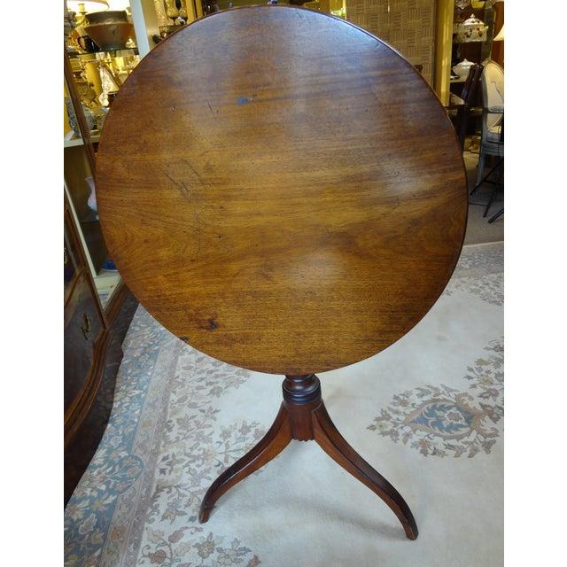 18th Century George III Tilt Top Tea Table For Sale - Image 4 of 13