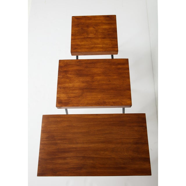 Birch 1960s David Wurster for Raymor Nest of Tables - Set of 3 For Sale - Image 7 of 12
