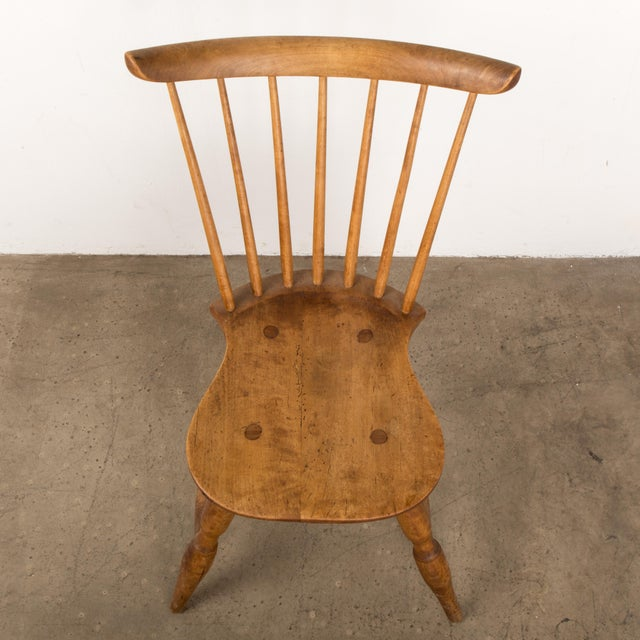 Small Danish Shaker Style Windsor Chair For Sale - Image 11 of 12