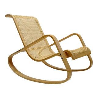 Luigi Crassevig Dondolo Bentwood Rocking Chair For Sale