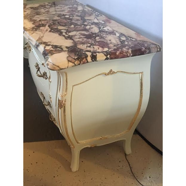 Paint Decorated Marble Top Chests- A Pair - Image 5 of 10