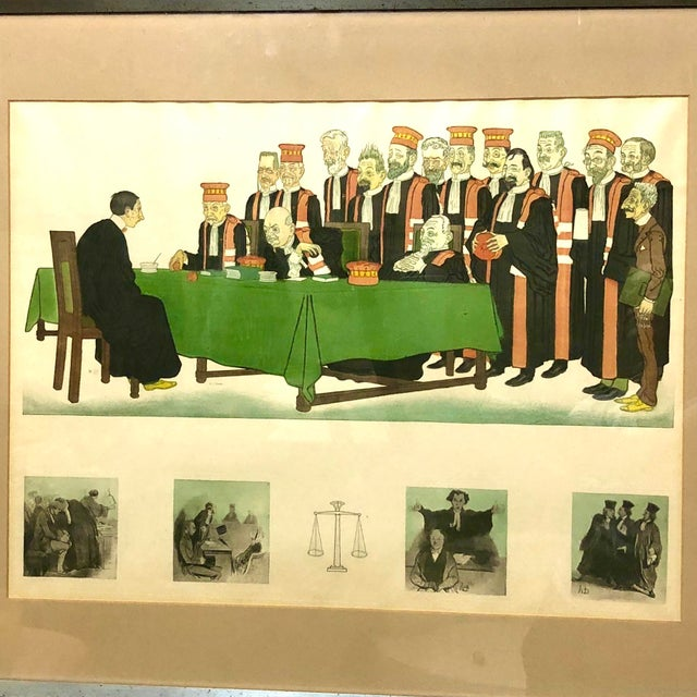 """Early 20th Century Framed Wall Art, """"Passing the Bar"""" by Adrien Barrere For Sale - Image 11 of 11"""
