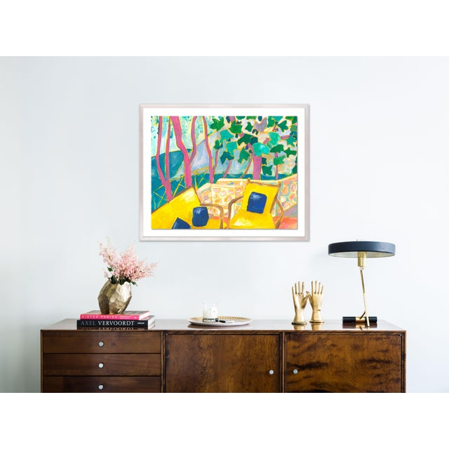 Porto Ercole 3 by Lulu DK in White Wash Framed Paper, Small Art Print Overall Size: 24x19.5. Image Size: 20x15.5....