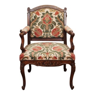19th Century French Regence Style Fauteuil For Sale