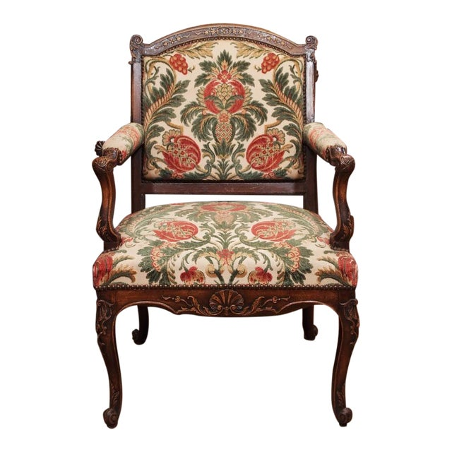 19th Century French Regence Style Fauteuil - Image 1 of 9