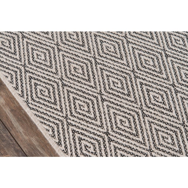 """Contemporary Erin Gates Downeast Wells Charcoal Machine Made Polypropylene Area Rug 2'7"""" X 7'6"""" For Sale - Image 3 of 10"""