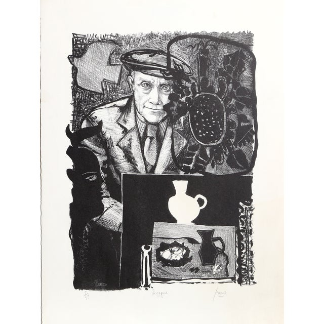 Braque Lithograph by Peter Paone For Sale