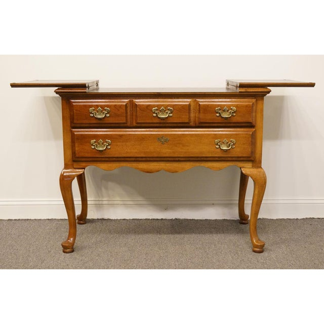 """Late 20th Century Dixie Court Collection Cherry 40"""" Flip-Top Server Buffet 120-862 For Sale - Image 5 of 13"""