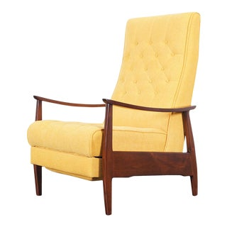 Early Reclining Lounge Chair by Milo Baughman For Sale