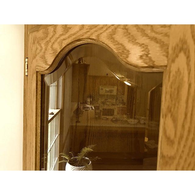 Solid Oak Corner Display Cabinet For Sale In Cleveland - Image 6 of 12