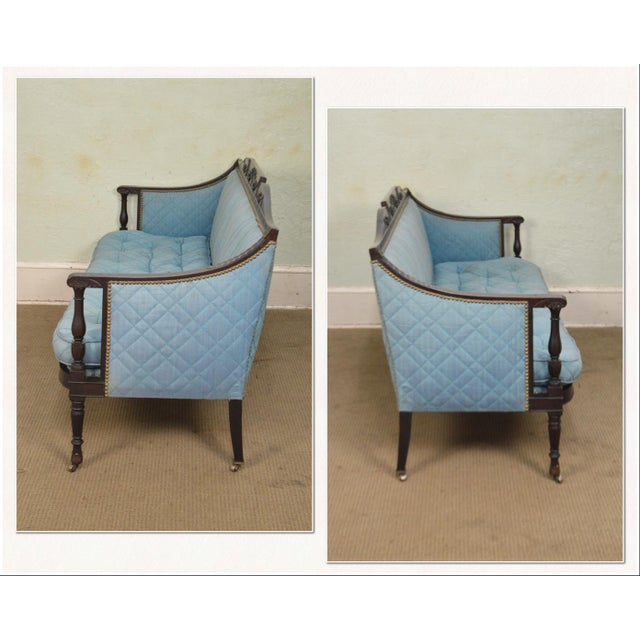 *STORE ITEM #: 17691 Federal Style Antique American Custom Mahogany Frame Sofa AGE / ORIGIN: Approx 100 years, America...