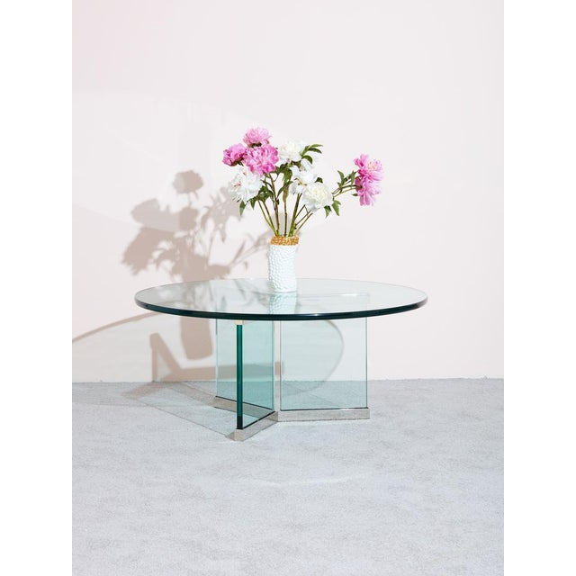Pace Collection Pace Collection Glass Coffee Table For Sale - Image 4 of 5