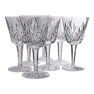 Vintage Waterford Lismore Wine Glasses - Set of 7 For Sale