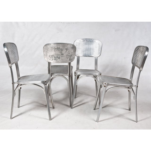 Modern Gaston Viort Aluminum Chairs - Set of 4 For Sale - Image 3 of 5