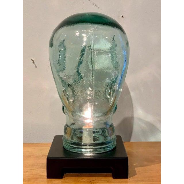 Modern Glass Skull Lamp For Sale - Image 10 of 12
