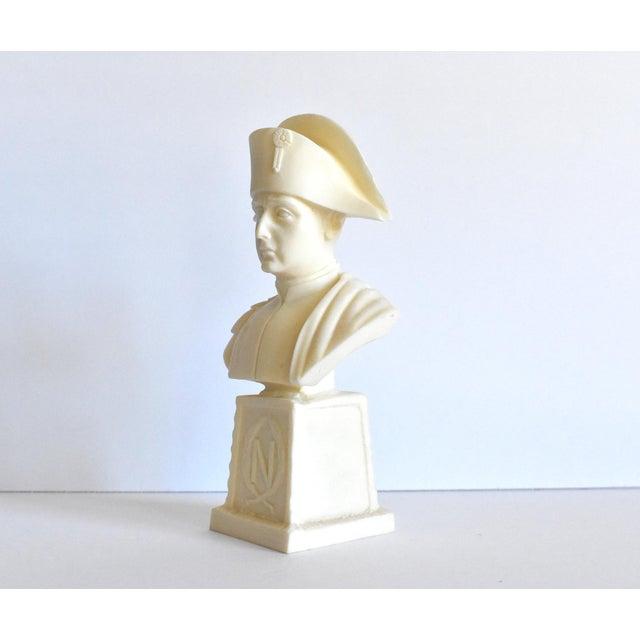 Resin Vintage Italian Resin Napoleon Bust on Pedestal For Sale - Image 7 of 12
