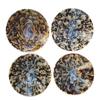 Hand-Thrown Artistan Bowls - Set of 4 For Sale