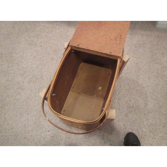 Vintage Picnic Basket Side Table - Image 6 of 11